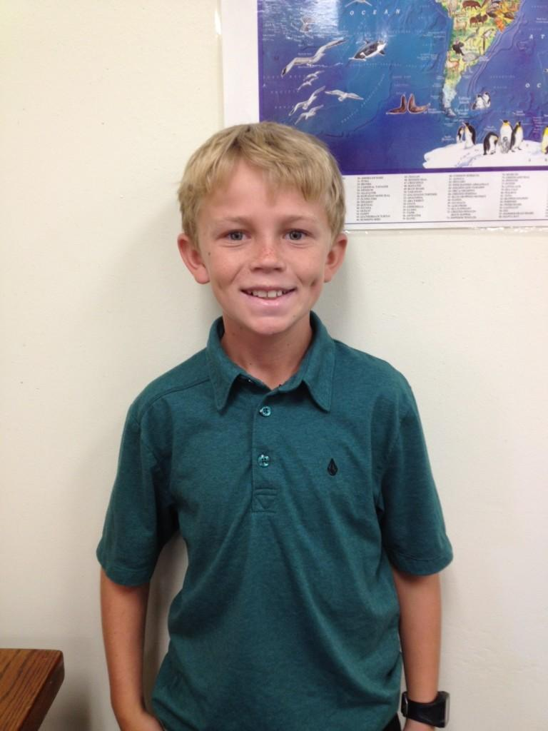 Caden Granum, a Seabury Hall sixth grader, enjoys surfing and many other outdoor activities.