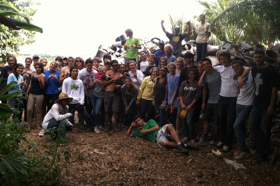 The class of 2014 partnered with the Maui Invasive Species Committee to prevent the spread of coqui frogs at the Kihei Gardens and Landscaping Company in Wailuku.