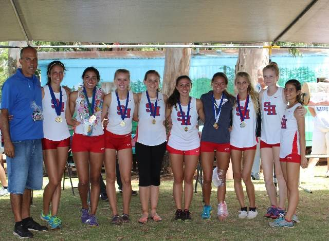 The+Seabury+Hall+girls+cross+country+team+became+state+champions+on+Oct.+26.+