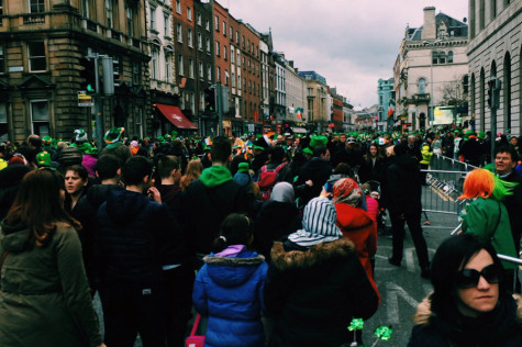 Seabury Hall students witnessed a parade on St. Patrick's Day through the streets of Dublin.