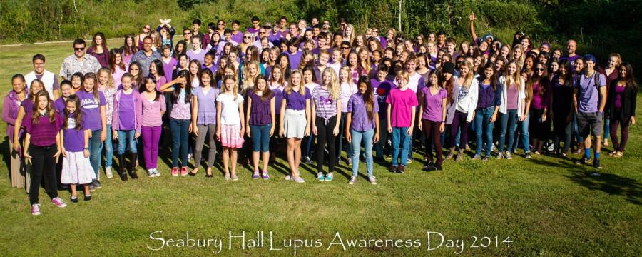 On Friday, May 9, Seabury Hall's students, faculty, and staff wore purple in support of Lupus Awareness Month