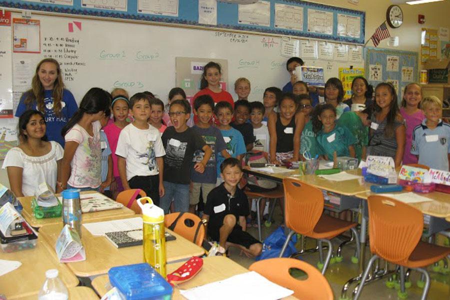Seabury Hall's Math Circle works with students at Pu'u Kukui Elementary School to help them develop their math skills.