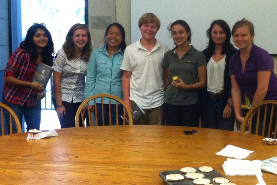 Members of Seabury Hall Young Adult Book Club meet regularly to discuss books and the joys of reading.