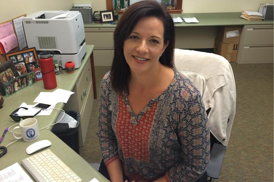 "Seabury Hall upper school registrar and administrative assistant, Christine Smith is many students' ""auntie,"" counselor, and friend."