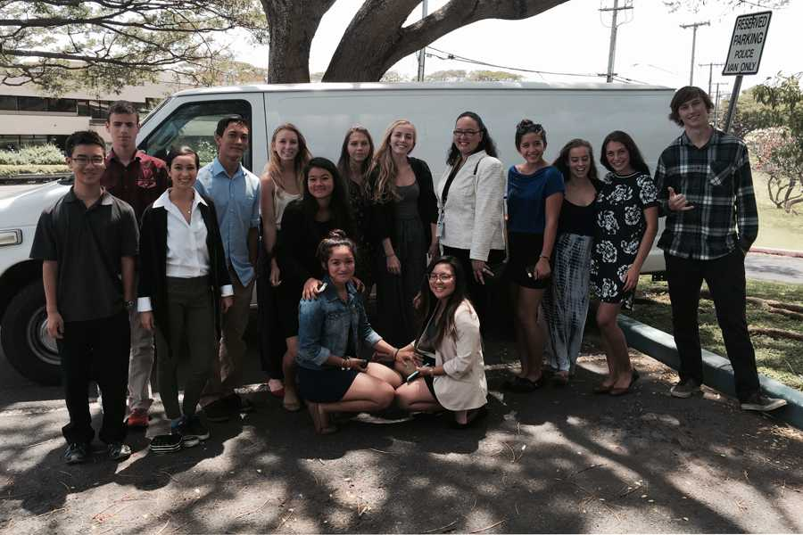 The juniors and seniors Seabury Hall's Introduction to Law class met with local law officials on a recent field trip.