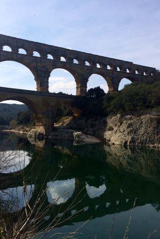 A highlight of the tour's visit to Nimes, Frances was a visit to the Pont du Gard.