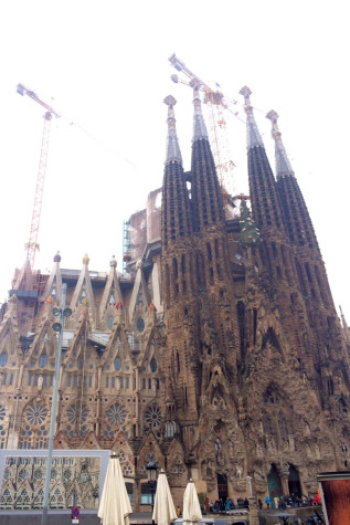 Students on Seabury Hall's AP art history tour visited the Sagrada Familia in Barcelona, Spain.