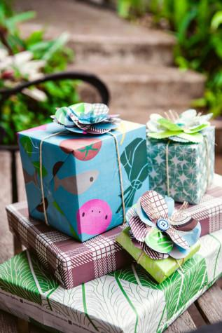 Wrappily's unique designs give gift-givers attractive, sustainable options for wrapping their gifts.