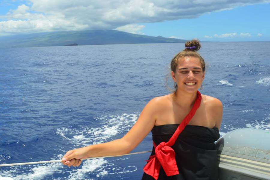 Seabury Hall senior Hi'ilei Robinson pursues her passion for paddling and sailing by  working with a club on Oahu.