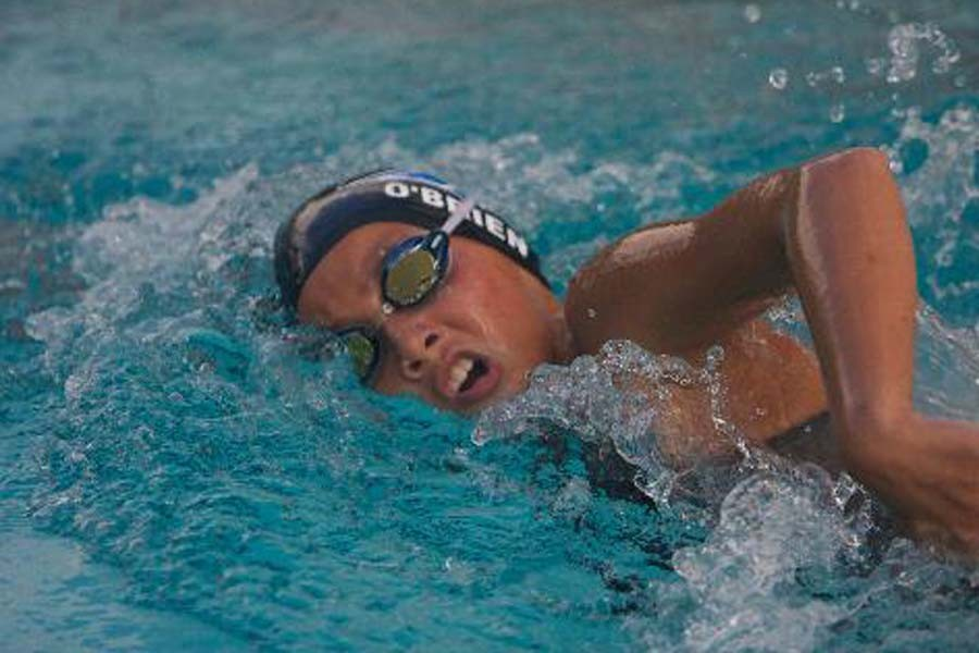 Seabury Hall freshman Jasmine O'Brien swims competitively for Hawaii Swim Club and for the school.