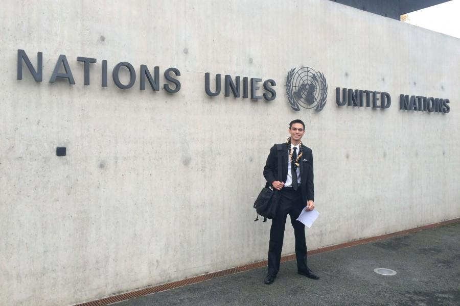 As part of his travels as a United Nations Youth Ambassador, Birnie traveled to the UN headquarters in Geneva, Switzerland.