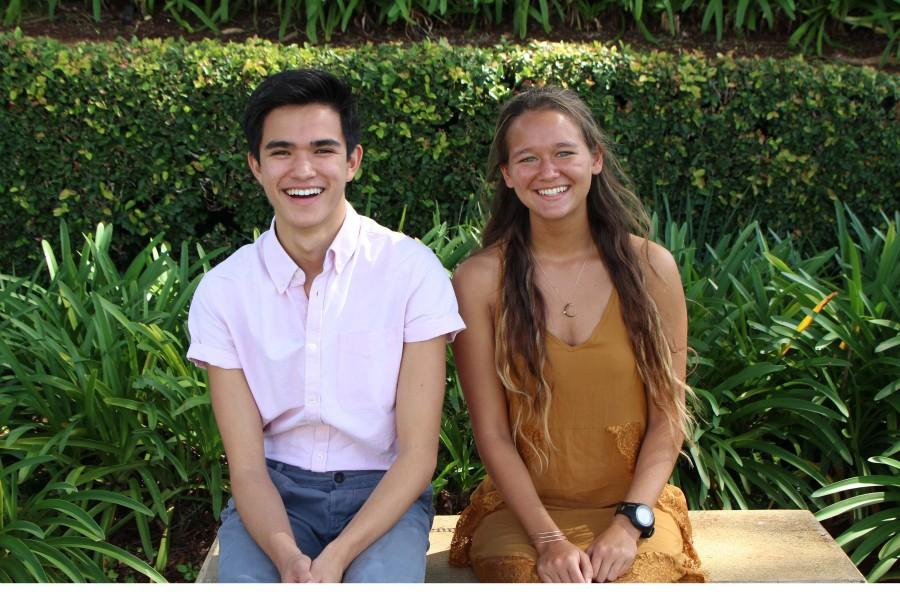 Senior Jacob Alabab-Moser and junior Ava Shipman serve as the co-directors for the TEDxYouth@SeaburyHall event, which will be held on Sat. April 3 at Seabury Hall's 'A'ali'ikuhonua Creative Arts Center.