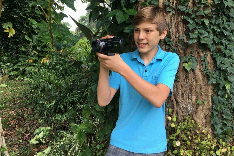 Seabury Hall freshman Sean Fleetham pursues his passion for filmmaking through his involvment with Maui Huliau.