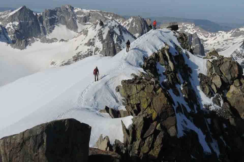 Jonah Adelman climbed up Gannet Peak in Wyoming during the summer of his junior year. Covered in snow and rocky peaks, this mountain is an 9,000 foot vertical climb.