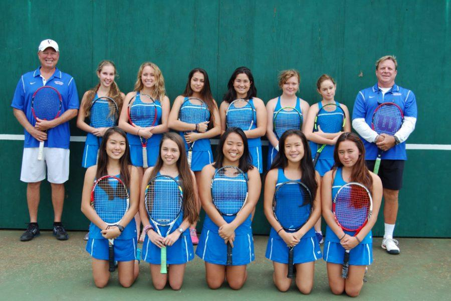 The Seabury Spartans girls tennis team has found success this season thanks to the addition of several strong freshmen players.