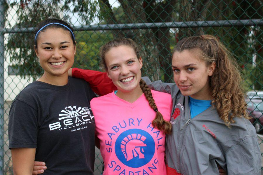 Co-captains senior Phoebe Fickbohm and juniors Marina Northey and Milena LaMonica have led Seabury Hall's girls softball team with their confidence and experience.