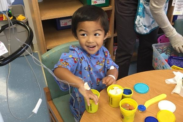 Three-year-old Nainoa Higa, son of upper school Spanish teach Earl Higa, was recently diagnosed with stage 4 rhabdomyosarcoma, a rare form of cancer that forms in the muscles of young children.