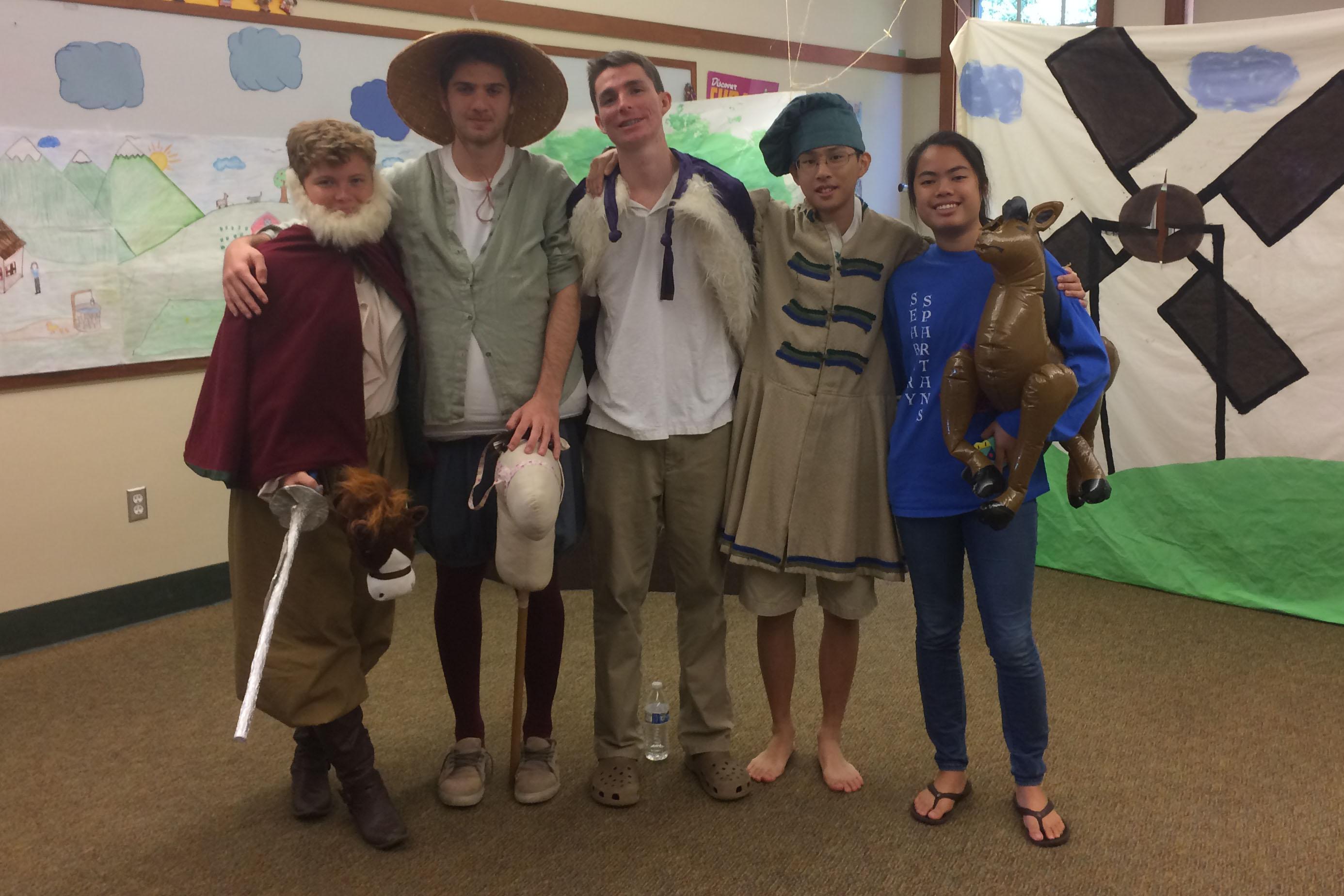 Seabury Hall seniors perform scenes from Cervantes'