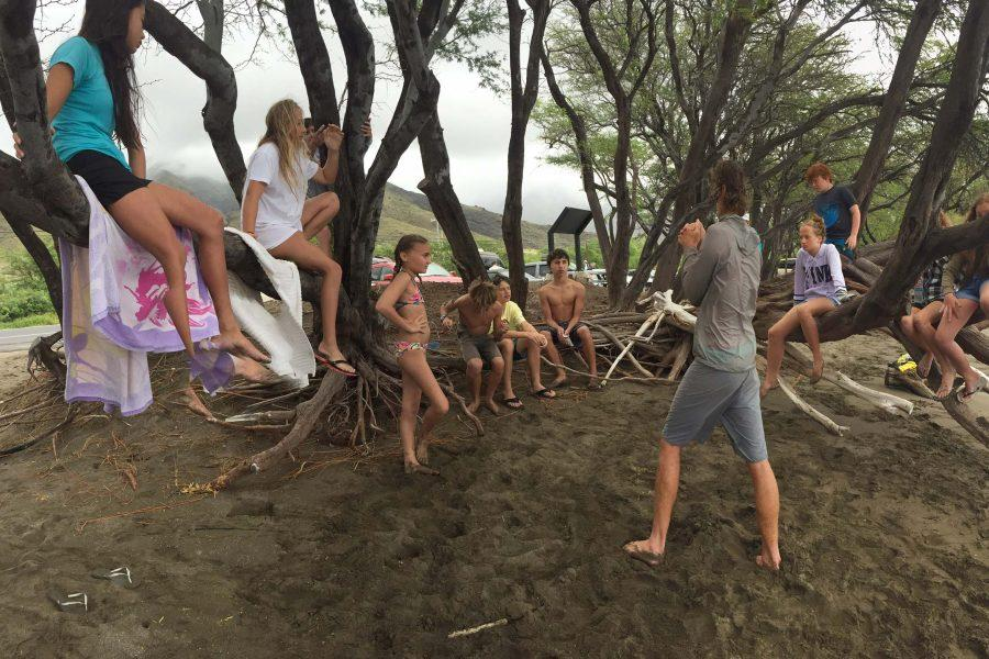 Middle school students explored Maui's beaches during the Ocean Bound Winterim