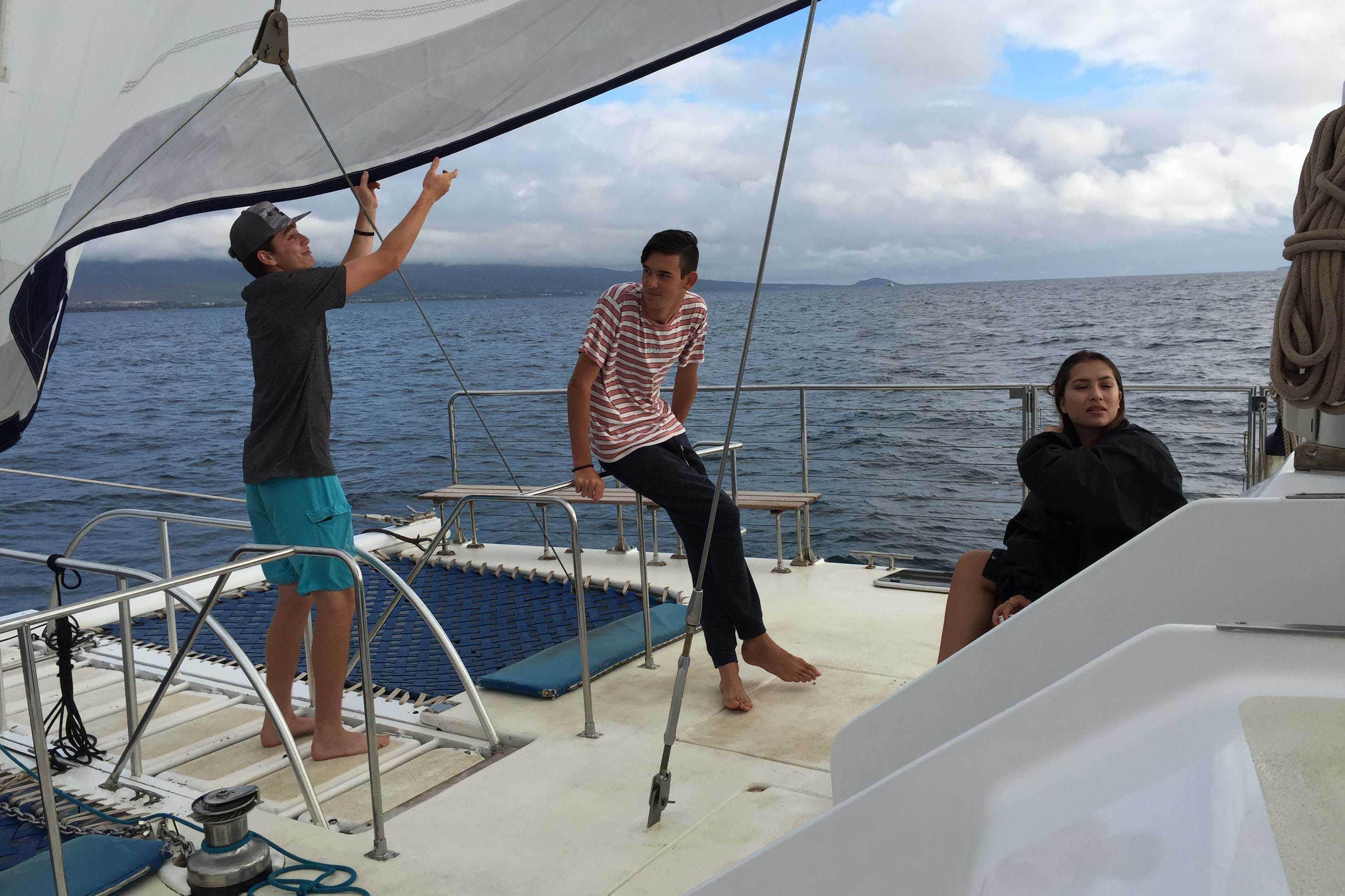 Students+sailed+around++the+waters+of+Maui+and+Lanai+during+Winterim+Week+with+Trilogy.+