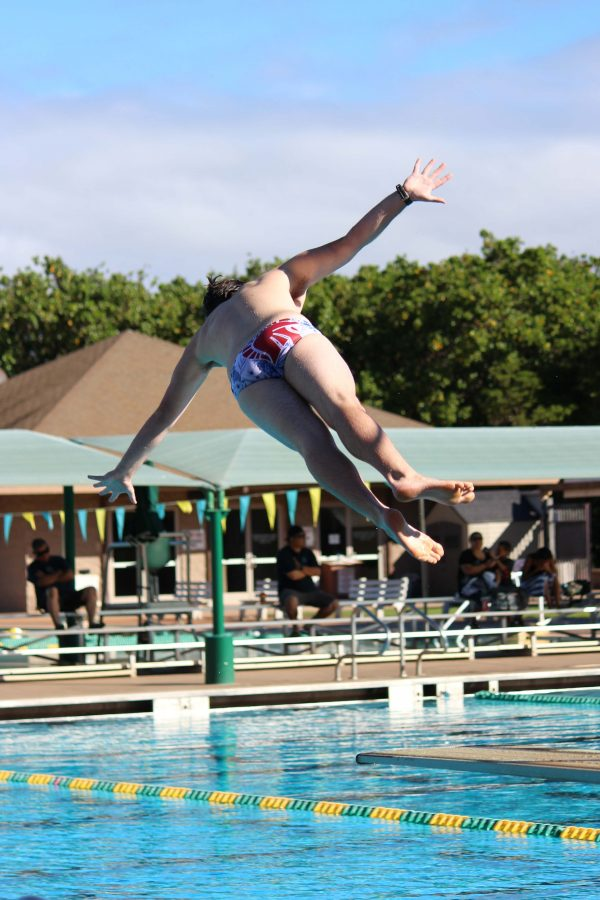 Even though this is Nees' first season as a diver, he has competed with Seabury Hall's swim team throughout his high school career.