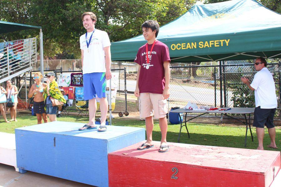 Senior Juston Nees came in first place at the MIL Championship meet on Saturday, Feb. 4. This is Nees' debut season as diver.