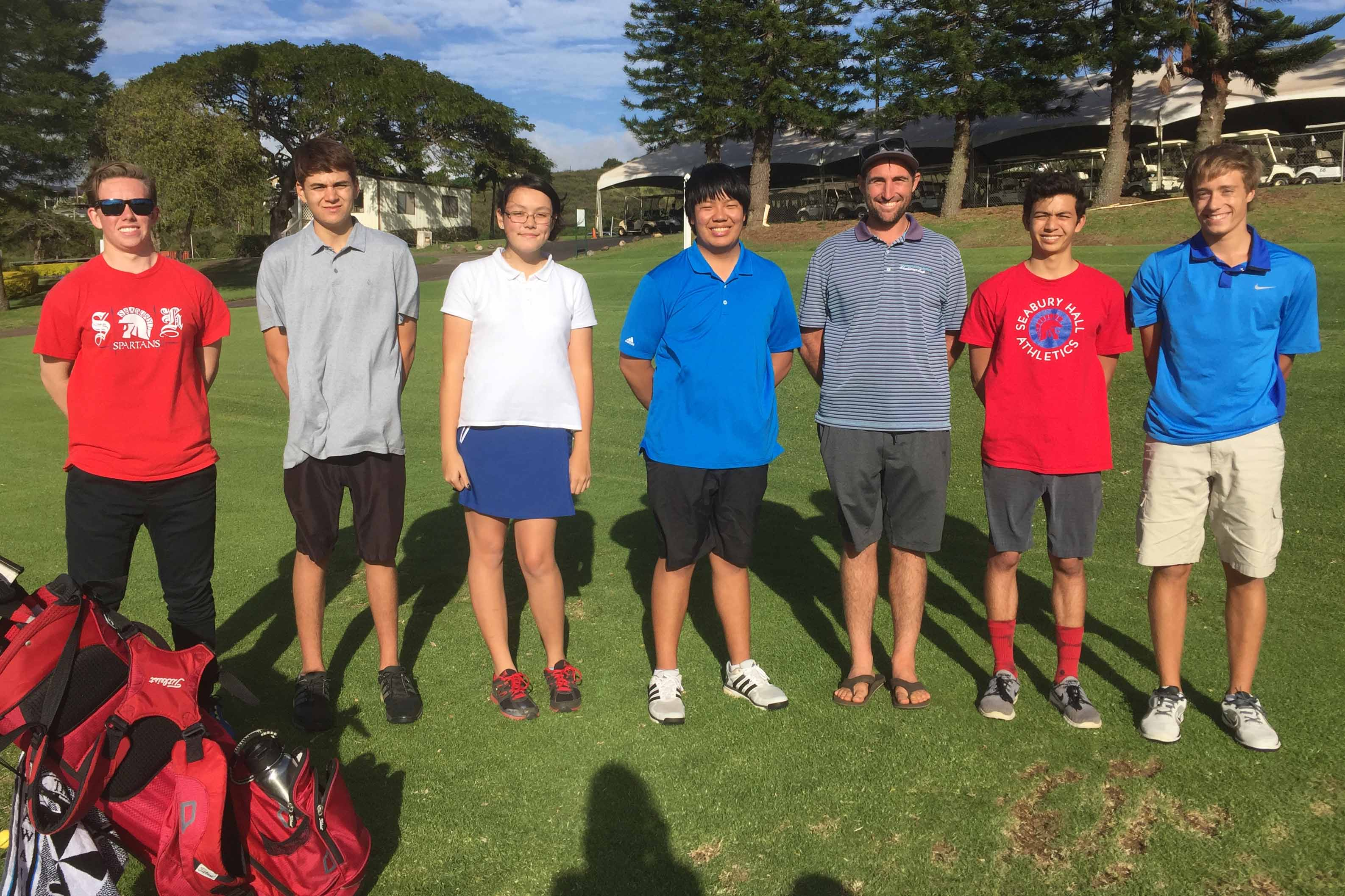 Seabury Hall's golf team is small; there are only six boys and two girls on the team. However, what they may lack in numbers, they more than make up with fun and spirit.
