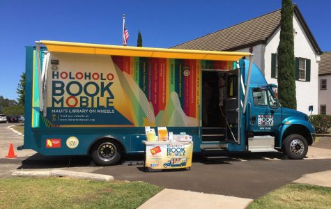 The Holoholo Bookmobile rolled onto Seabury Hall's campus on September 29.